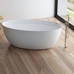 Bathtub, Bathroom, Grey, Products, Modern, Velvet, Standing Bath, Washroom, Gray