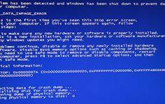 Những lỗi cơ bản của máy tính, laptop cá nhân
