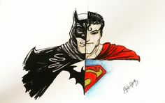 Batman and superman drawing #batmandrawing #supermandrawing #dcdrawing #fanart