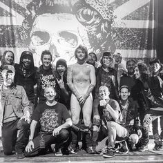 Asking Alexandria and crew (:| I worry about Danny sometimes