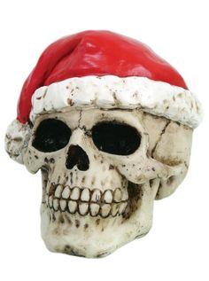 """Santa"" Skull by Pacific Trading #inkedshop #skull #holiday #santa"