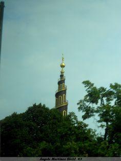 Detalle: Aguja de la iglesia de Nuestro Salvador, en Copenhague