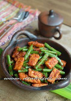 Diah Didi's Kitchen: Tumis Kacang Panjang & Tempe Bumbu Ulek Vegetarian Recipes, Cooking Recipes, Healthy Recipes, Simple Recipes, Healthy Food, Diah Didi Kitchen, Indonesian Cuisine, Asian Recipes, Ethnic Recipes