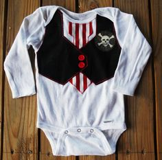 Baby boy Pirate onesie. $15.00, via Etsy.