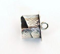 Wrapped Tassel Bezel, Large, Sterling Silver (SLK1625)
