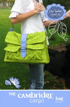 Lila Tueller The Cambridge Cargo Bag Sewing Pattern von Ahmelie Diaper Bag Patterns, Bag Patterns To Sew, Sewing Patterns Free, Sewing Tutorials, Sewing Crafts, Sewing Projects, Handbag Patterns, Cambridge Bag, Cute Diaper Bags