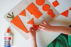 Triângulos, círculos e quadrados podem sim juntos formar várias imagens, até cenouras! Pois é, cenouras. Tudo inquérito você vai precisar é feltro, ...