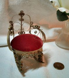Miniature Rocker Pin Cushion Dollhouse Bentwood Chair by VinLizzy  @@SOLD!!  to view other listings, click on image