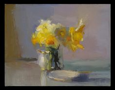 Christine Lafuente Daffodils, Creamer, and Dish, Oil on linen, 14 x 18 inches New York Painting, Flower Art Drawing, Daffodils, Figurative Art, Painting Inspiration, Art Photography, Floral Paintings, Oil Painting Flowers, Oil Paintings