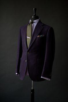 Manolo Costa Aubergine Bespoke Suit