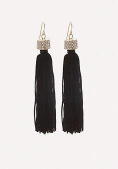 Top Embellished Tasseled Drop Earrings from Bebe R220,00