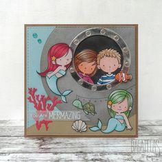 Bagatelas de papel: Tarjeta sirenitas - Mermaid card