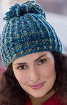 Knit-Looped Tassel Hat