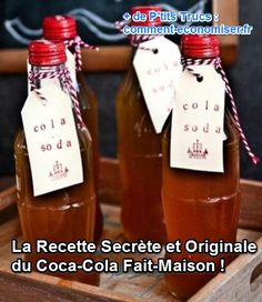 Le goût est très proche, voire meilleur, et en plus vous savez ce que vous mettez dedans. Si le Coca-Cola n'est pas bon pour la santé, cette recette, elle, est délicieuse et à consommer sans modération. Découvrez l'astuce ici : http://www.comment-economiser.fr/recette-secrete-coca-cola-preparation-maison.html?utm_content=bufferc189c&utm_medium=social&utm_source=pinterest.com&utm_campaign=buffer