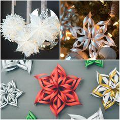 12Superideias para decorar sua casa com flocos deneve feitos depapel