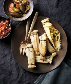 Pressure-Cooker Cheese and Green Chili Tamales