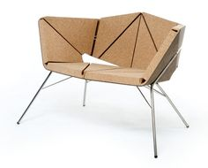 Vinco chair, designed by Toni Grilo is made of a combination of natural agglomerate cork and rubber cork