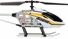 """Syma S301G Metal RC Helicopter 18"""" 3 Channel RTF + 27 mhz Transmitter with GYRO (Yellow)"""