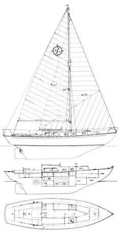 Offshore 31 (Cheoy Lee) drawing on sailboatdata.com