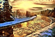 A very cold River Dee, Banchory, Scotland .