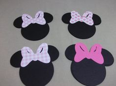 Minnie Mouse Head with Bow-Die Cuts. $3.25, via Etsy.