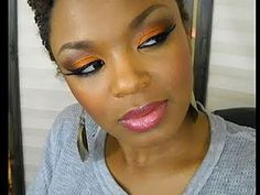Orange Eyeshadow Look  ugh, i could never. gah. #inept