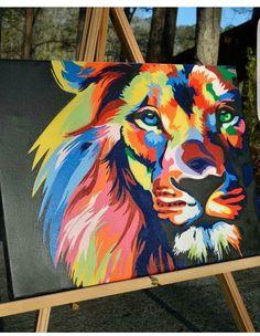 Acrylique lion