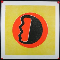 Han Schuil: Houtsnede/Litho, Abstracte compositie