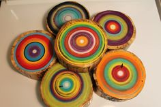 Earth Art Tree Rings. Fun colors make for great art!!