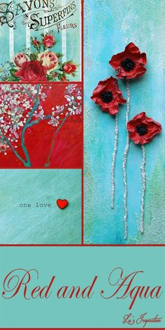 Wow that was a gorgeous board today ladies. It's a  lovely color combination, and your pins added the beauty so thank you. Tonight and tomorrow, let's do this color board of RED AND AQUA.  Enjoy and Happy Pinning.❤