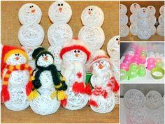 Te enseñamos a crear un simpático muñeco de nieve utilizando utilizando un bloblo, hilo y cola blanca. Una actividad que podrás hacer con los más pequeños.