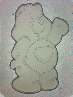 Flexible Resin Mold Cute Bear with Heart Mould by KAPCREATIONS