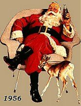 A Coca Cola Christmas Coca Cola Santa, Coca Cola Christmas, Vintage Coke, Vintage Santas, Santa Pictures, Christmas Pictures, Christmas Past, Father Christmas, Vintage Christmas Images