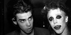 Nick Cave and Nik Fiend, at The Batcave Club, London via Young Limbs And Numb Hymns: The History Of The Batcave Club Ian Astbury, Goth Club, Goth Bands, Goth Music, Siouxsie & The Banshees, Poster Boys, The Bad Seed, Nick Cave, New Romantics