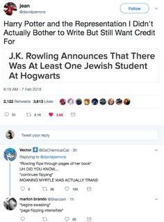 Harry Potter is a great series, but I do have a problem with J.K Rowling claiming that there were diverse characters when the books show nothing to back the claims up.