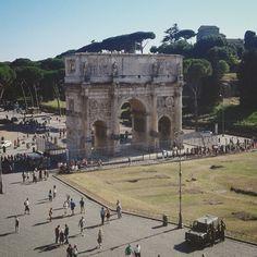 #arcodicostantino #roma #colosseo #panoramica
