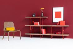 GROP AKCESORIA regał modułowy w stylu bauhaus polski design Mebloscenka Bauhaus, Loft, Magazine Rack, Shelving, Bookcase, Cabinet, Storage, Furniture, Home Decor