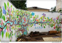 The tree of life or fictional garden (Graffiti) by Smile Buddha , via Behance