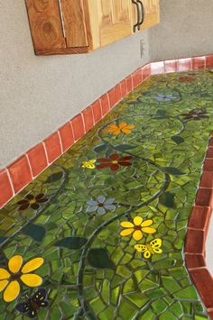 flower mosaic counter...