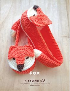 Fox Women's House Slipper Crochet PATTERN Kittying Crochet Pattern by kittying.com from mulu.us This pattern includes U.S. women's sizes of 5 - 10.