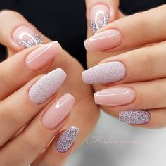 100 Gorgeous Spring Nail Trends And Colors - Page 60 - Fab Wedding Dress, Nail art designs, Hair colors , Cakes Valentine's Day Nail Designs, Square Nail Designs, Nails Design, Cute Nails, Pretty Nails, Sugar Nails, Best Acrylic Nails, Stylish Nails, Elegant Nails