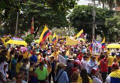 Este Sábado en Colombia cientos de miles de gatos pideron la renuncia de Santos y su régimen corrupto: Duván Idárraga
