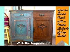 (1) How to Paint and layer Furniture with a pallet knife and water with Dionne from The Turquoise Iris - YouTube