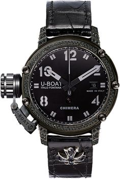 U-Boat Watch Chimera 43 PVD Black Diamonds Limited Edition #bezel-diamond #bracelet-strap-alligator #brand-u-boat #case-material-black-pvd #case-width-43mm #date-yes #delivery-timescale-call-us #dial-colour-black #gender-mens #limited-edition-yes #luxury #movement-automatic #official-stockist-for-u-boat-watches #packaging-u-boat-watch-packaging #style-dress #subcat-chimera #supplier-model-no-7229 #warranty-u-boat-official-2-year-guarantee #water-resistant-1001m