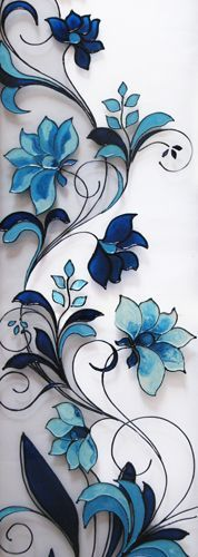 May make a nice stained glass design Stained Glass Paint, Stained Glass Flowers, Stained Glass Crafts, Stained Glass Designs, Stained Glass Panels, Stained Glass Patterns, Stained Glass Tattoo, Glass Door Designs, Window Glass Design