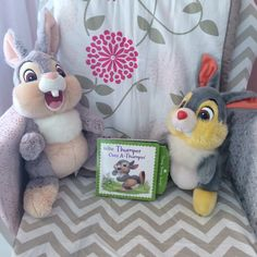 Disney Bunnies: Thumper Goes A-Thumpin' board book with pull tabs is perfect for little hands and bunny lovers!