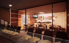 Manido Studios - Eishockey Club Olten ECHO 3d Modellierung, Studios, Modern, Conference Room, Club, Table, Furniture, Home Decor, Architecture