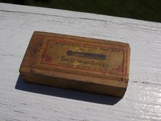 Vintage Standard Hand Tap Set in original wooden box No 131 by AppalachianAxeworks on Etsy