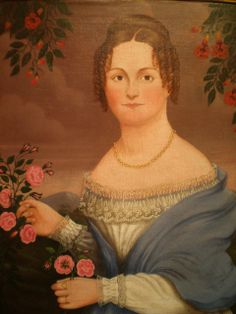 American folk portraits in museums | Unknown artist 'Portrait of Elvira Ladd', ca. 1825, American Folk art ...