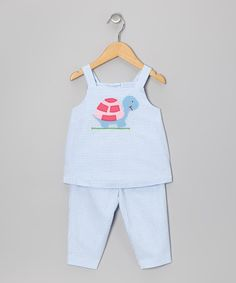 Take a look at this Blue Turtle Top & Capri Pants - Infant, Toddler & Girls by Monday's Child on #zulily today!